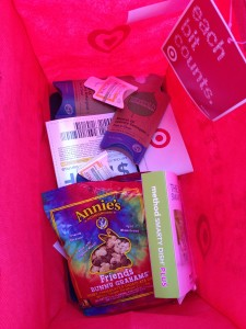 peek inside target earth day bag with samples from eco-friendly brands