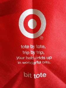 target bit tote small reusable bag given on earth day