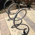 Funky bike rack.