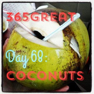 365great challenge day 68: coconuts