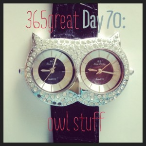 365great challenge day 70: owl stuff
