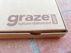 corner of graze box with logo