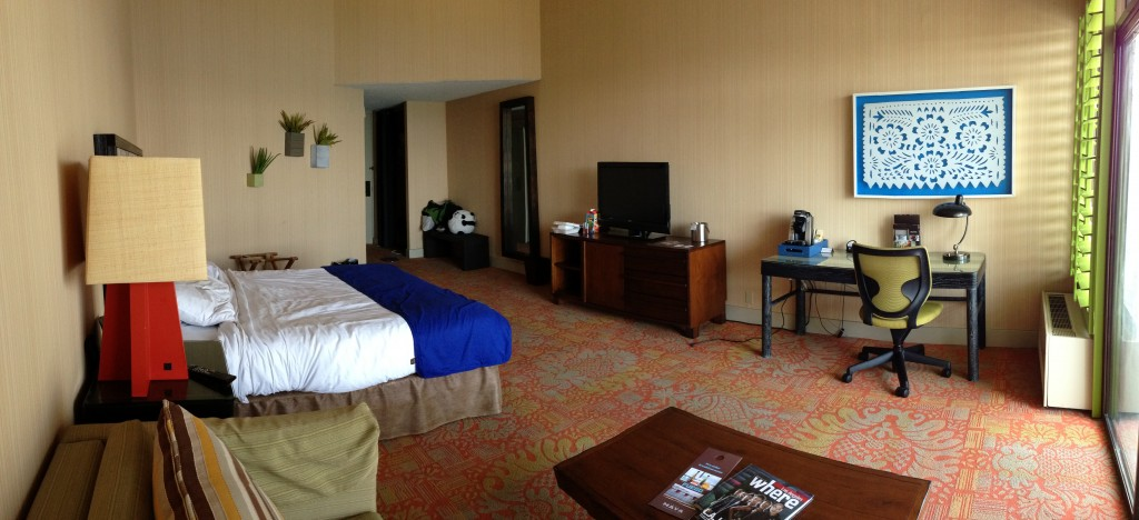 view of hotel maya room from inside