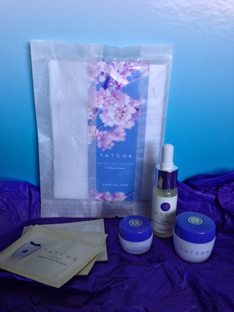 tatcha samples including deluxe sizes