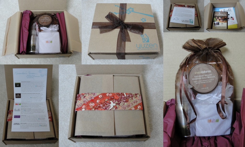 collage of unwrapping of november 2012 yuzen box