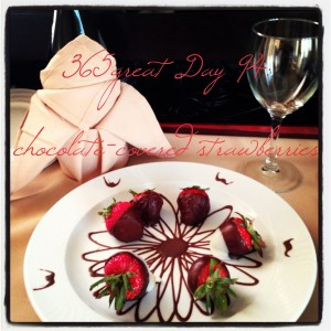 365great challenge day 94: chocolate-covered strawberries