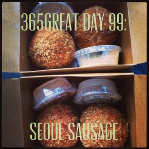 365great challenge day 99: seoul sausage