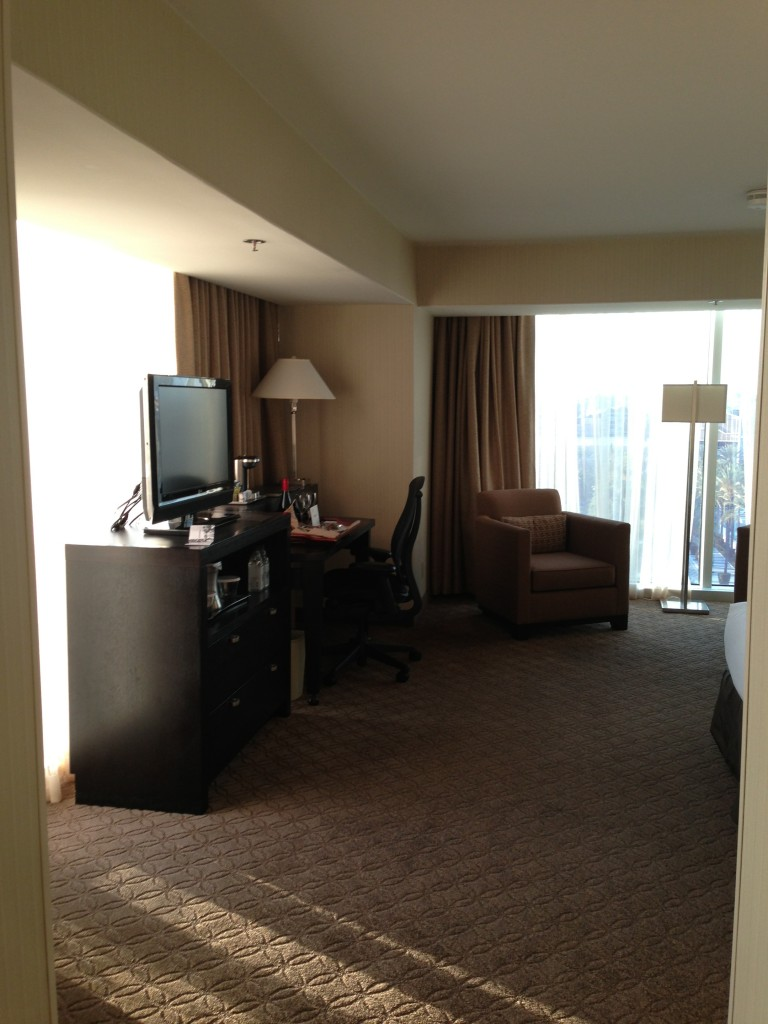 corner room at hilton anaheim with windows on two sides