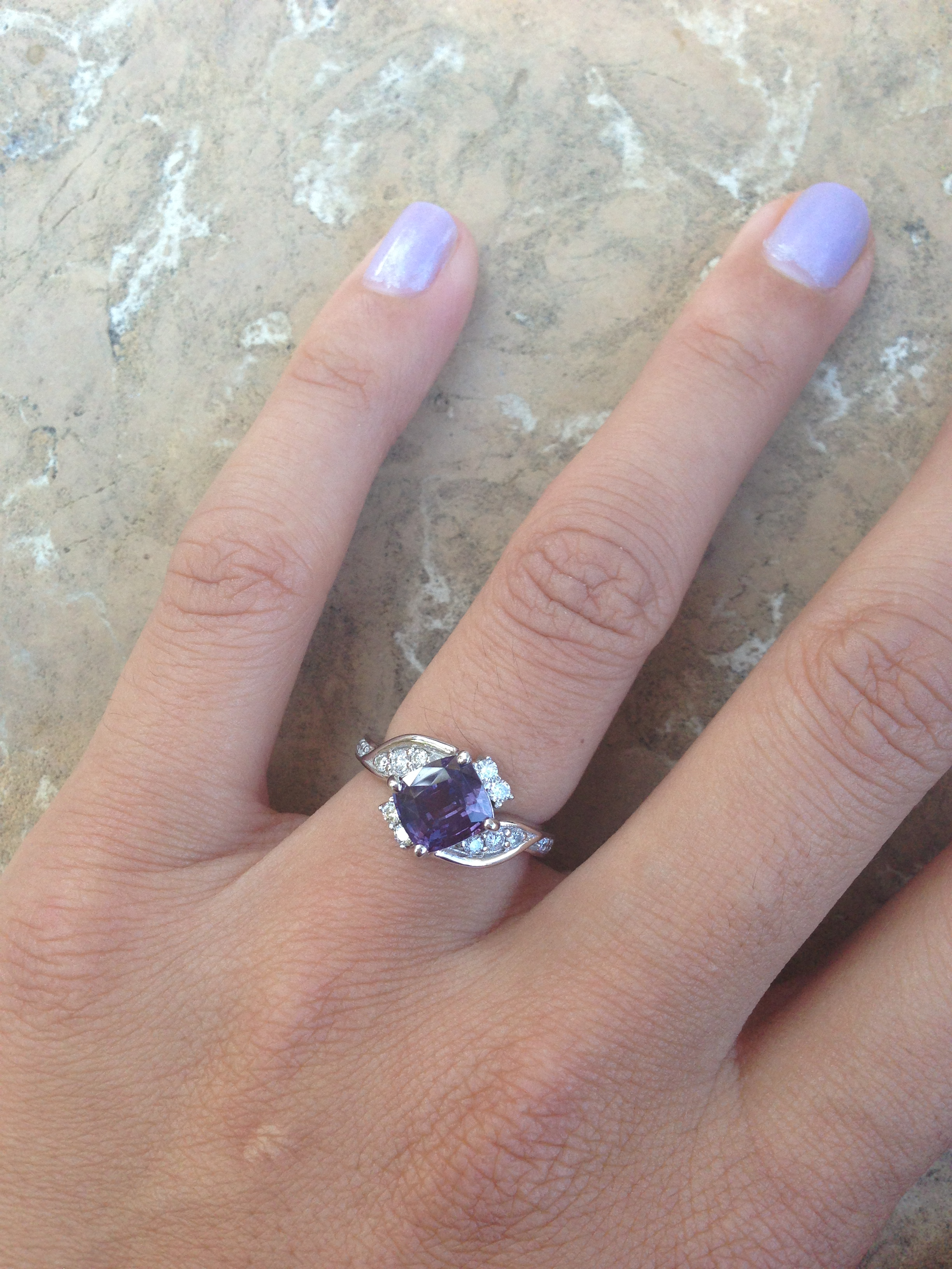 Engagement Ring With Purple Sapphire