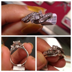 collage of engagement ring designs from various jewelers