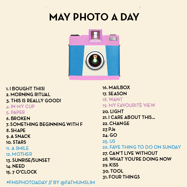 fatmumslim may 2013 photo a day prompt card