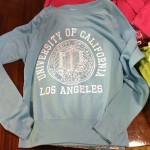 university of california los angeles logo sweatshirt in blue/teal