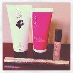 set of julep hand products including spf 30 hand lotion, glycolic hand scrub, oxygen nail treatment, and cuticle treatment