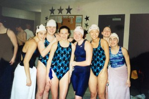 girls swim team at danbury ymca in early 2000s
