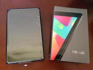 brand new google nexus 7 in box with exterior box