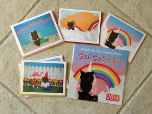 kate funk the world's most super amazing 100% awesome cat calendar and cards from kickstarter backing