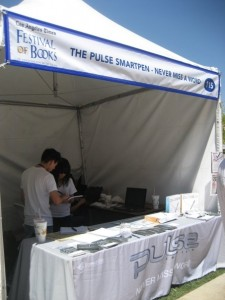 livescribe pulse smartpen booth at the los angeles times festival of books at ucla