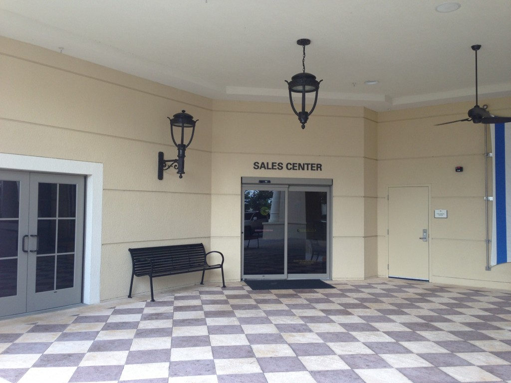 parc soleil hilton grand vacations sales center entrance doorway