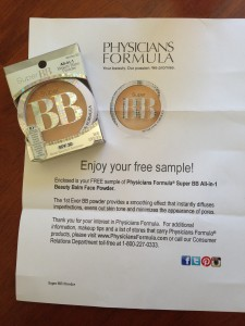 physicians formula bb powder and letter