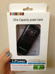 powerbank backup battery in box