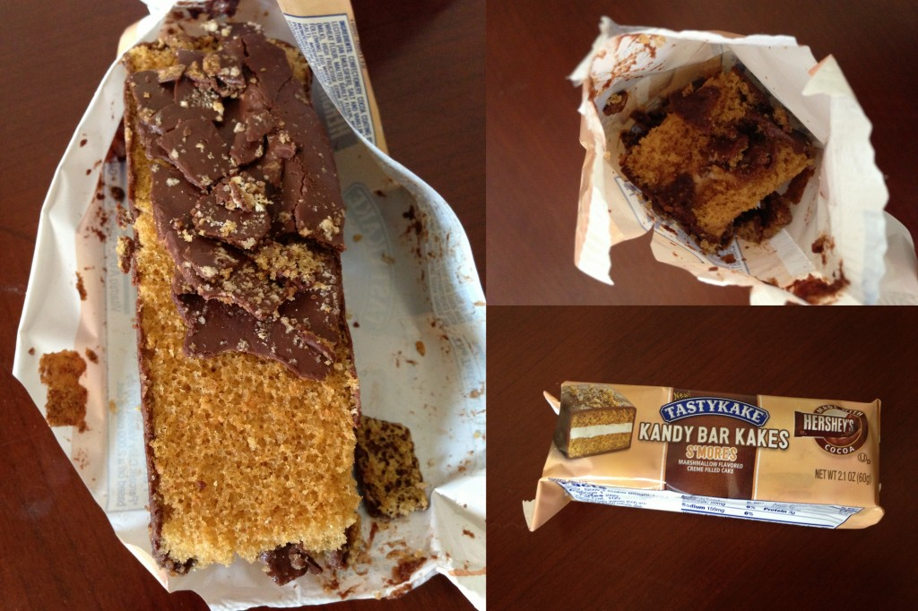 collage of tastykakes s'mores snack