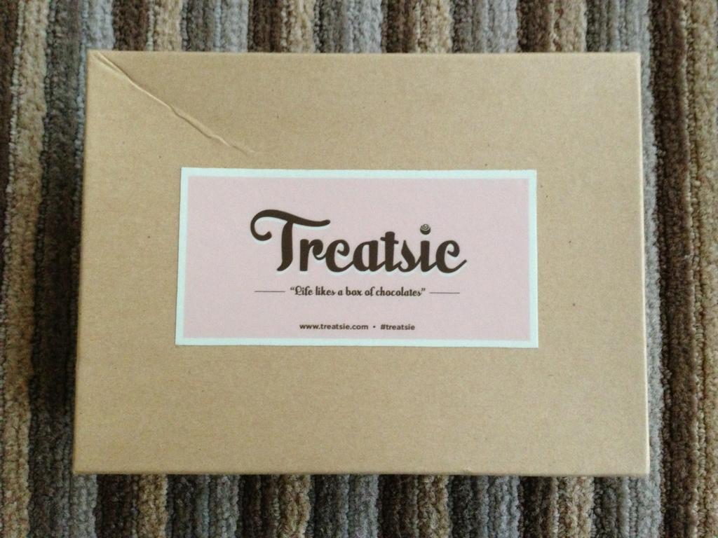 treatsie carboard box with sticker logo branding