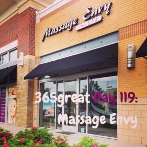 365great challenge day 119: massage envy
