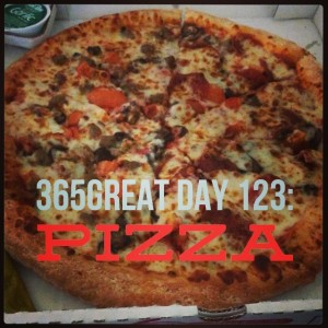365great challenge day 123: pizza
