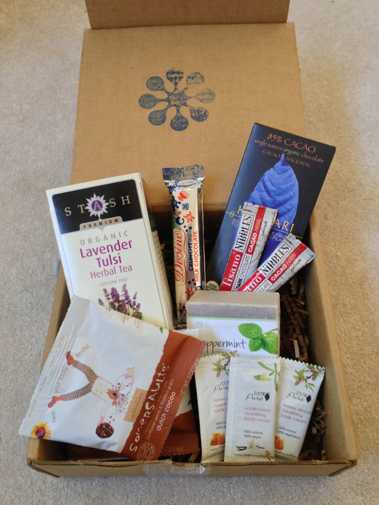 opened blissmobox january 2013 with contents displayed
