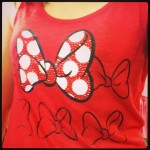 red minnie mouse tank top with red and white polka dot bow