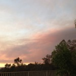 smoky wildfire cloud covering part of sky