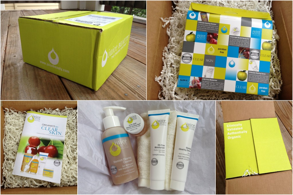 juice beauty 30-day skin-clearing kit collage