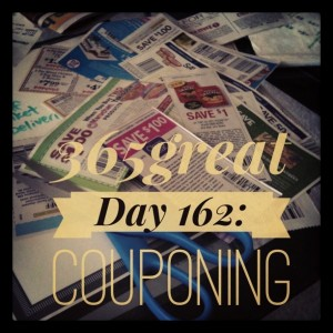 365great challenge day 162: couponing