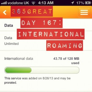365great challenge day 167: international roaming
