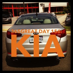 365great challenge day 156: kia