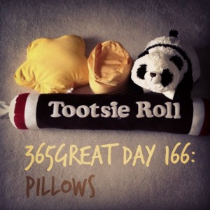 365great challenge day 166: pillows