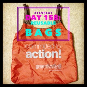 365great challenge day 158: reusable bags