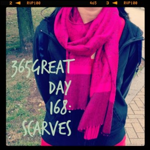 365great challenge day 168: scarves