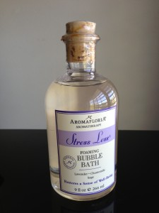 aromafloria aromatherapy stress less foaming bubble bath with lavender, chamomile, sage