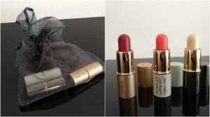 collage of jane iredale mini lippies included in the february-april spring 2013 yuzen box