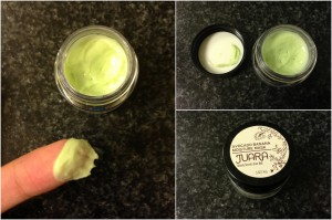collage of juara avocado banana moisture mask included in the february-april spring 2013 yuzen box