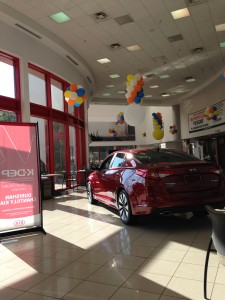 inside of kia dealership