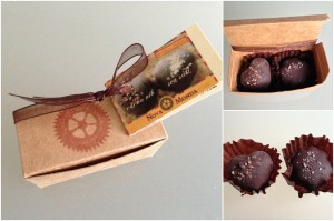 collage of nova monda heart-shaped truffles included in the february-april spring 2013 yuzen box