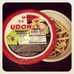 bowl of instant udon noodles