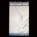 iphone 5 screen shattered from drop