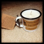 country junction macintosh soy candle in mini metal mug from gettysburg