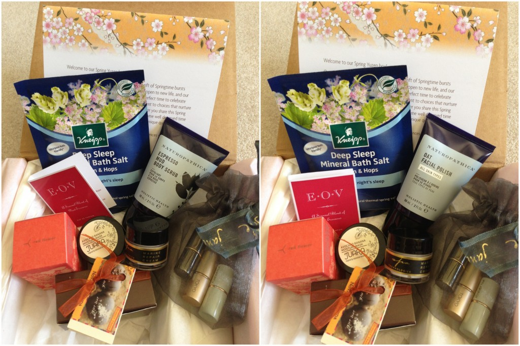 collage of unboxed spring 2013 yuzen boxes