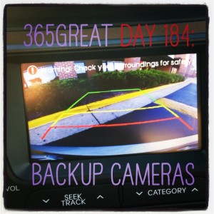 365great challenge day 184: backup cameras