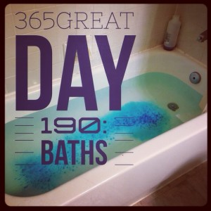 365great challenge day 190: baths