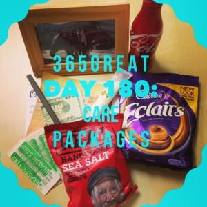 365great challenge day 180: care packages